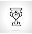 Trophy black simple line icon vector image vector image