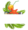 Tropical cocktail vector image vector image