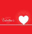 valentines day background with heart and confetti vector image vector image