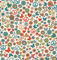 Vintage colors flower power background vector image