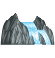waterfall down the rock vector image