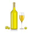 White Wine vector image vector image