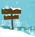 winter design vector image vector image