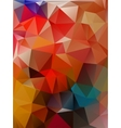 Abstract 2D geometrical colorful background vector image