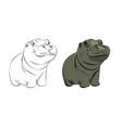 hippopotamus baby cute vector image