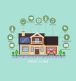 smart home the concept for the organization of vector image