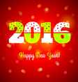 2016 and lights vector image