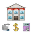 calculator dollar sign new building real estate vector image