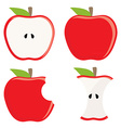 Red apple set vector image