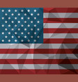 usa flag american national symbol abstract vector image