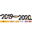 2019-2020 new year cars minivans buses vector image vector image