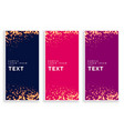 abstract particle sparkles banners set vector image vector image
