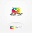 art mail logo design vector image vector image
