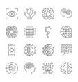 artificial intelligence icon set vector image vector image