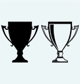 Award trophies vector image vector image