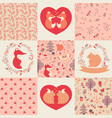 baby girl patterns and collection vector image vector image
