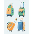bags set different kinds of bags and vector image