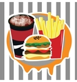 Beautiful set of fast food advertising menu vector image vector image