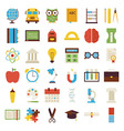 Big Flat Back to School Objects Set isolated over vector image vector image