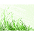 blowing grass vector image vector image