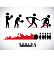 bowling sport vector image