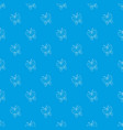 butterfly pattern seamless blue vector image