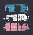 calofornia print with frame and palm tree vector image vector image