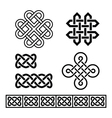 Celtic Irish patterns and braids vector image vector image