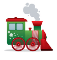 christmas train isolated vector image vector image