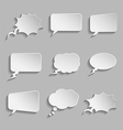 Collection of comic style thought bubbles - 3D vector image vector image