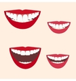 Collection of smiles vector image vector image