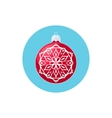 Colorful Icon Red Ball with Snowflake vector image vector image