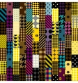 Colorful patchwork pattern vector image vector image