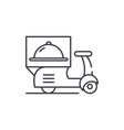 delivery from restaurants line icon concept vector image vector image