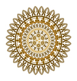 ethnic round ornament vector image