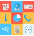 Flat icons for outsource communication vector image
