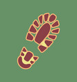 footprint boot sign cordovan icon and vector image vector image