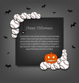 frame halloween with baseball balls vector image vector image