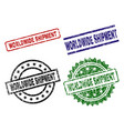 grunge textured worldwide shipment stamp seals vector image vector image