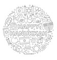 hanukkah background from line icon vector image