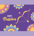 happy dussehra festival india decorative vector image vector image