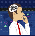 head and gears young stock broker vector image