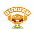 logo burger vector image vector image