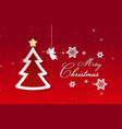 merry christmas and happy new yeartext is merry vector image vector image