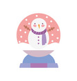 merry christmas celebration decorative snowman vector image