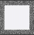 monochrome pixel frame borders vector image vector image