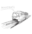 monorail train vector image vector image