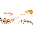 nature fall branches vector image vector image
