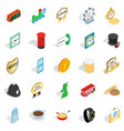 period icons set isometric style vector image vector image