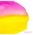 pink and yellow watercolor squarer background vector image vector image